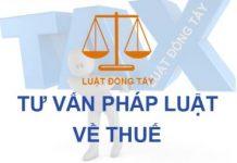 Tư vấn pháp luật về thuế