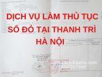 Dịch vụ làm sổ đỏ tại Thanh Trì, Hà Nội