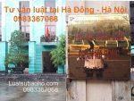 Luật sư tư vấn luật quận Hà Đông, Hà Nội