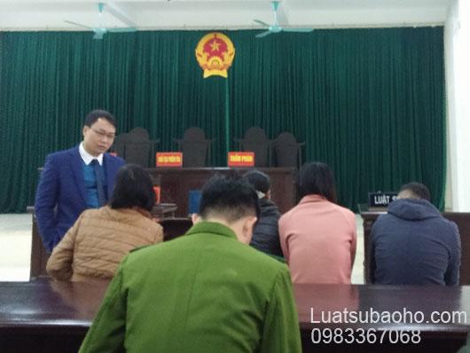 Luật sư nhận bào chữa phiên tòa sơ thẩm vụ án hình sự