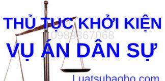 Tư vấn thủ tục khởi kiện vụ án dân sự tại Toà án Trang chủ