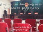 Luật sư bào chữa vụ án mua bán trái phép chất ma túy