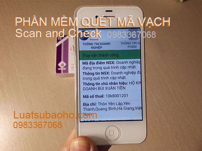 Phần mềm quét mã vạch Scan and Check cho điện thoại