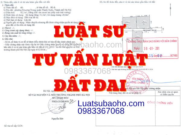 Luật sư tư vấn luật đất đai